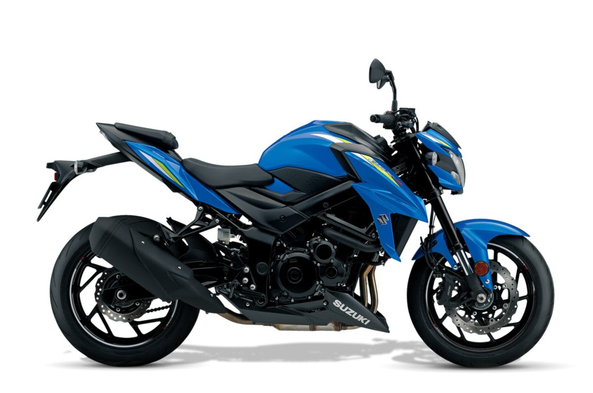 Suzuki GSX-S750 in Metallic Triton Blue colour