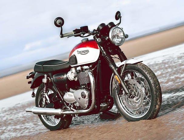 Triumph Bud Ekins T120, parked
