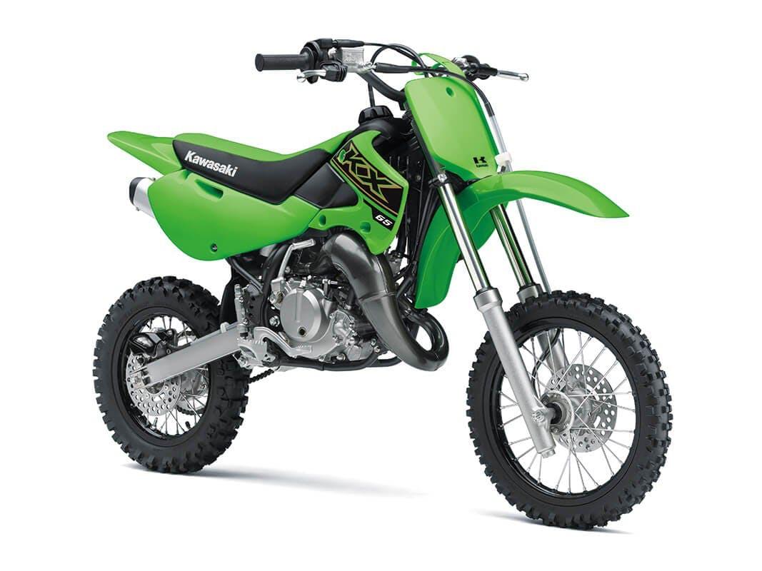 KAWASAKI KX65 in lime green colour