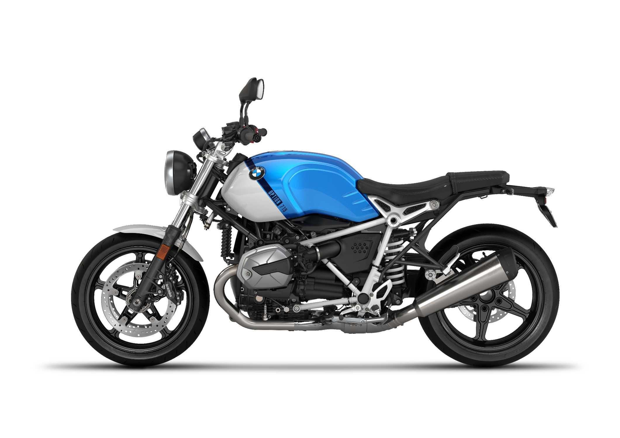 BMW R nineT Pure in Option 719 Cosmic Blue Metallic/Light White colour