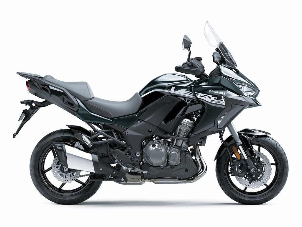 Kawasaki Versys 1000 SE in Emerald Blazed Green with Pearl Storm Gray colour