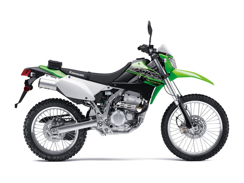 KAWASAKI KLX250S in lime green colour