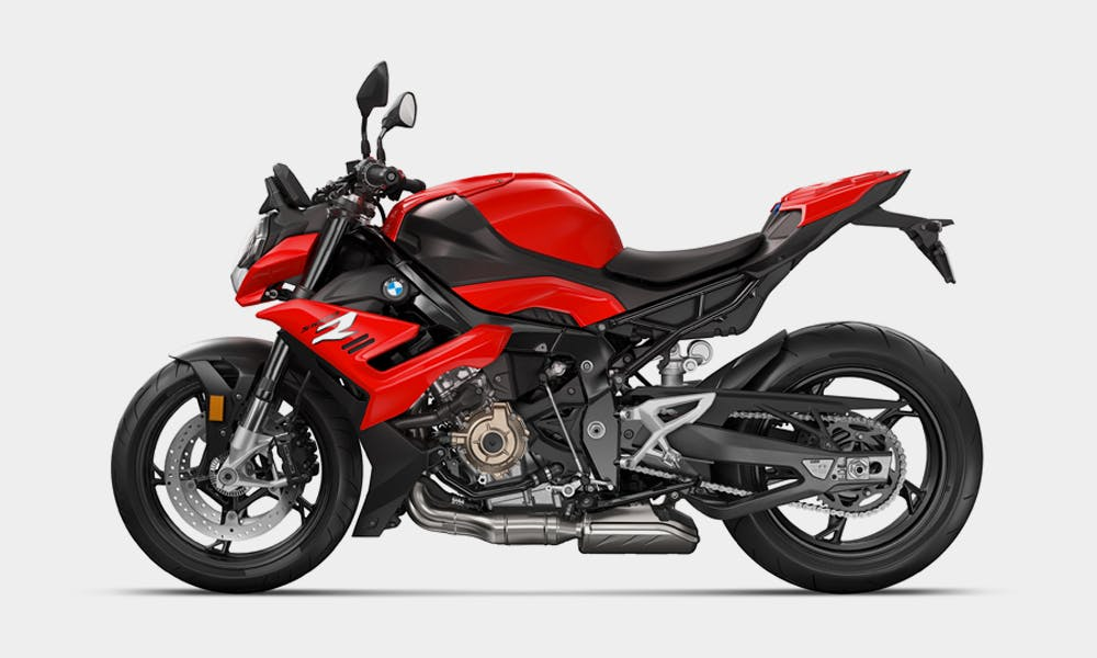 BMW S 1000 R in racing red colour