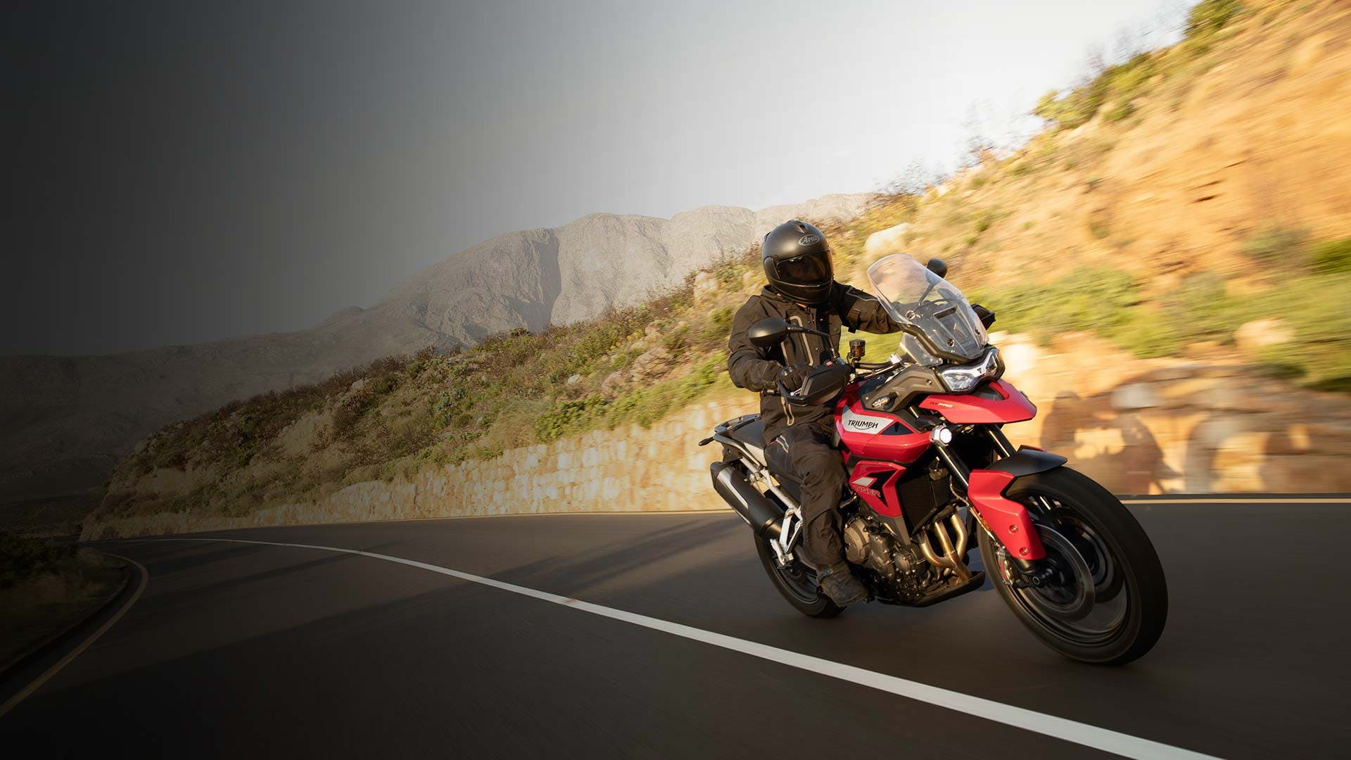 Triumph Tiger 900 GT on the road