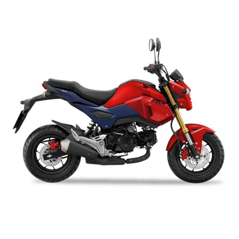 Honda GROM in Gayety Red colour