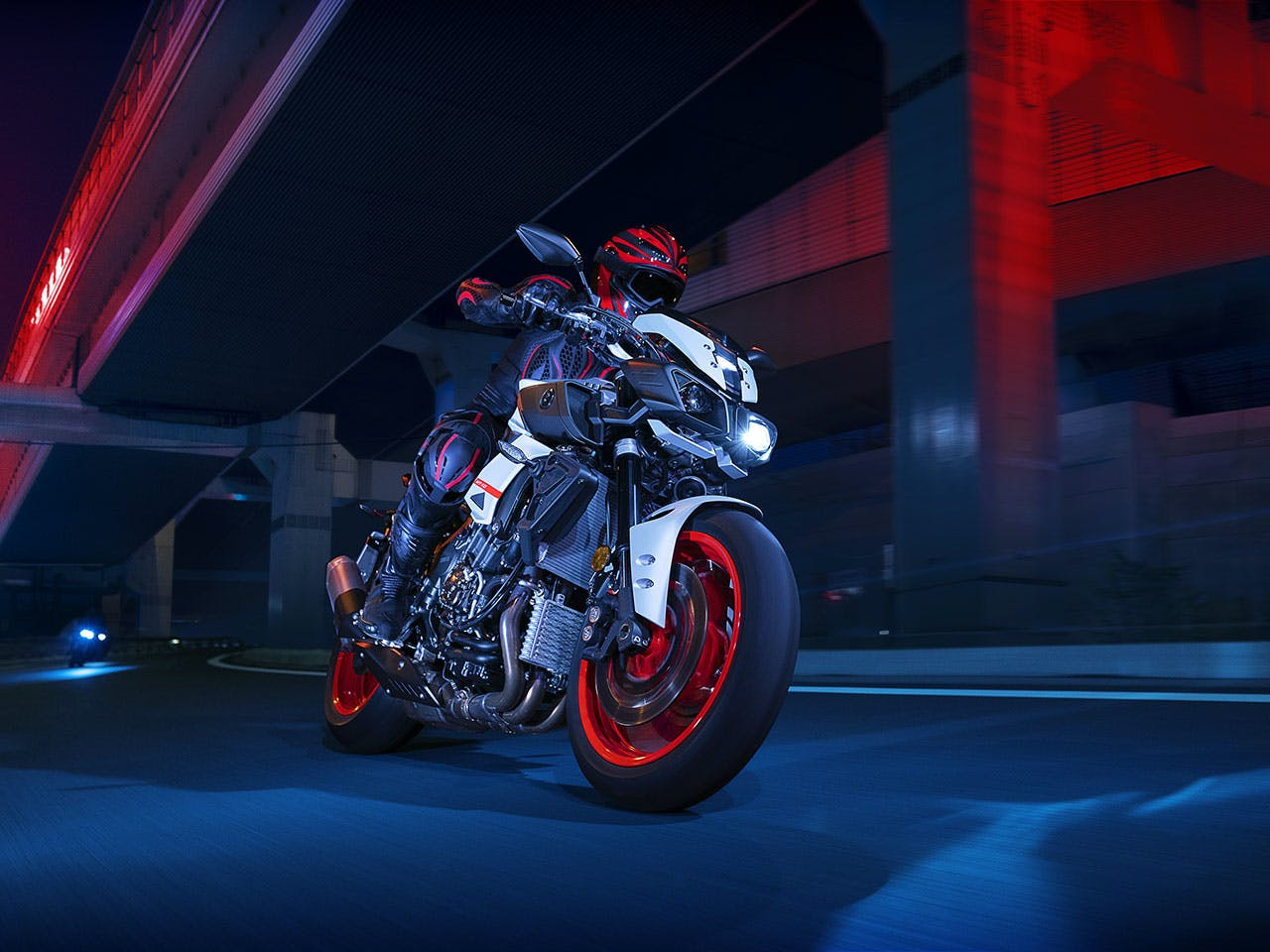 Yamaha MT-10 in on the road