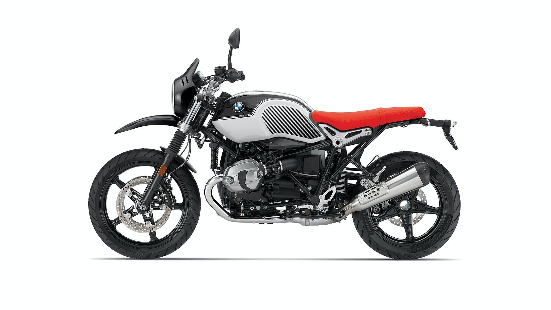 BMW R nineT Urban G/S Spezial in option 719 black storm metallic / light white colour