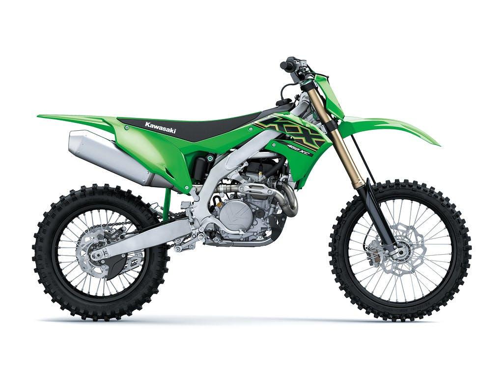 Kawasaki KX450XC in lime green colour