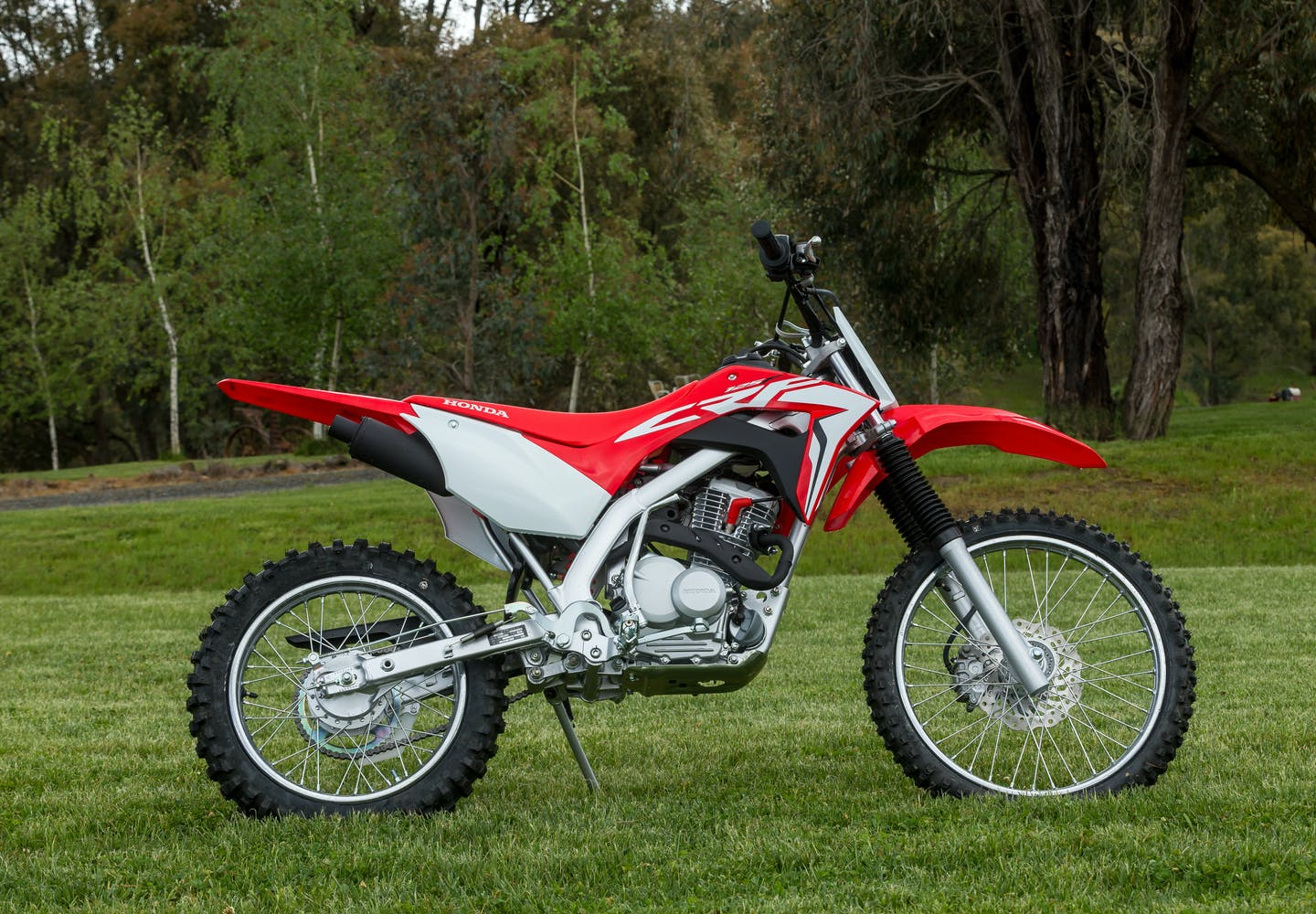 Honda CRF125F in extreme red colour