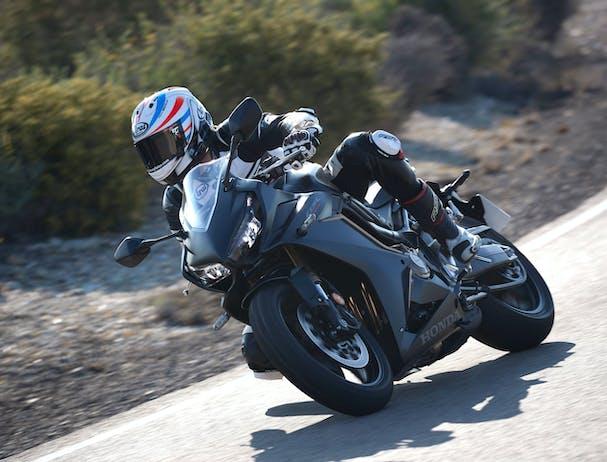 Honda CBR650R in pearl smoke grey colour