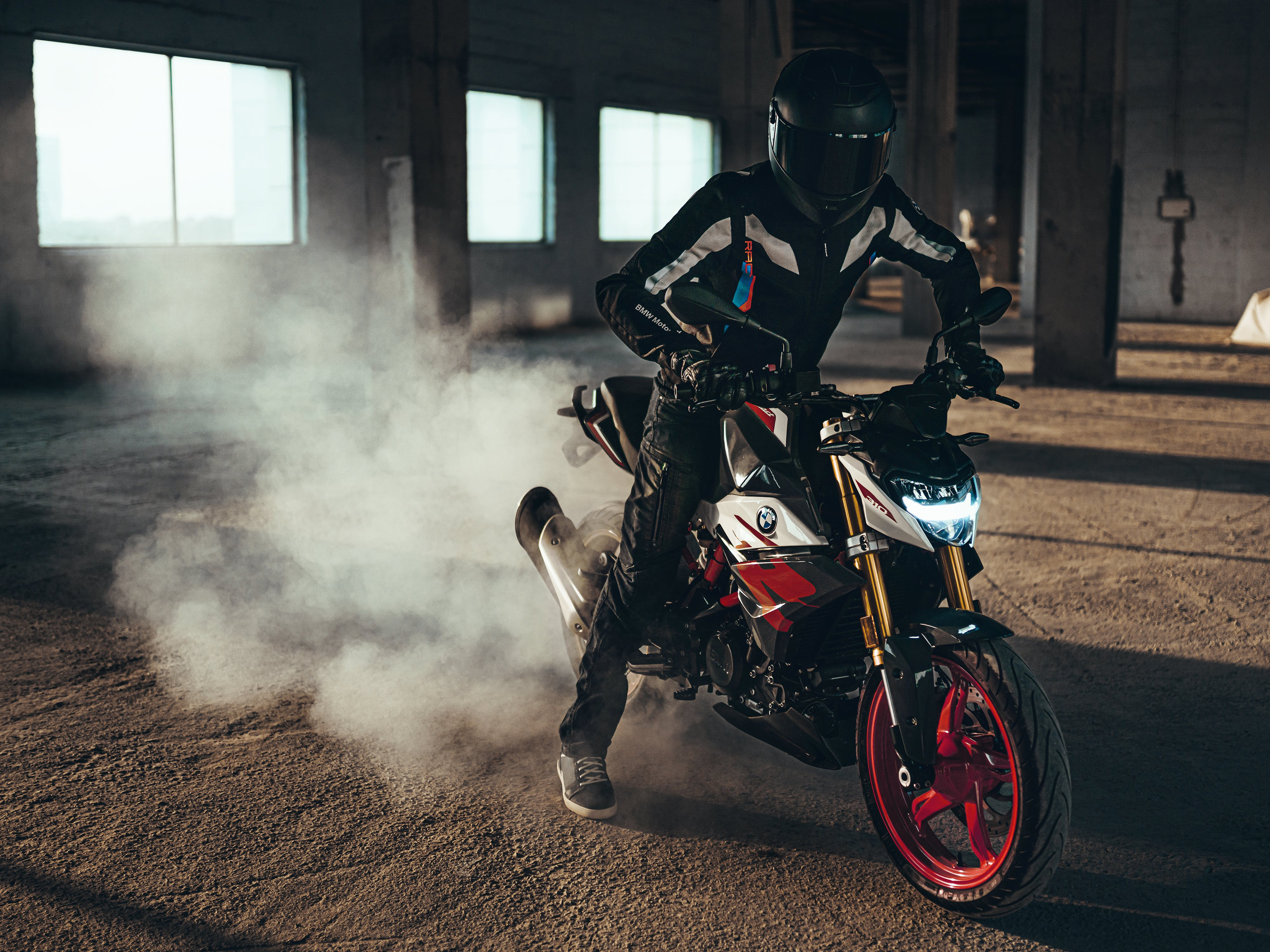 BMW G 310 R in Cosmic Black colour being tested