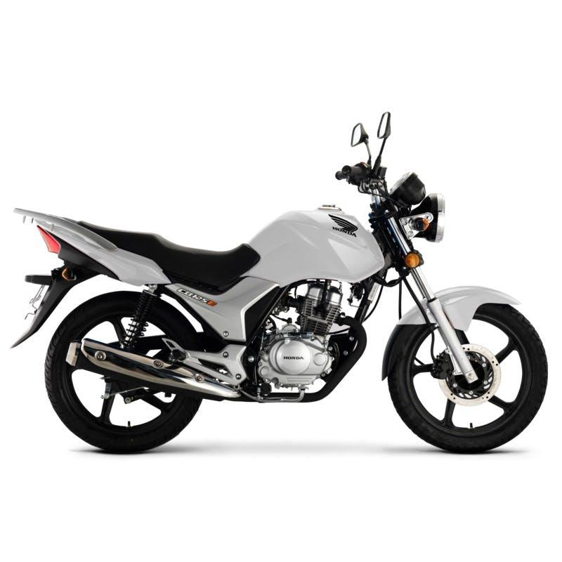 Honda CB125E in Pearl Cancer White colour