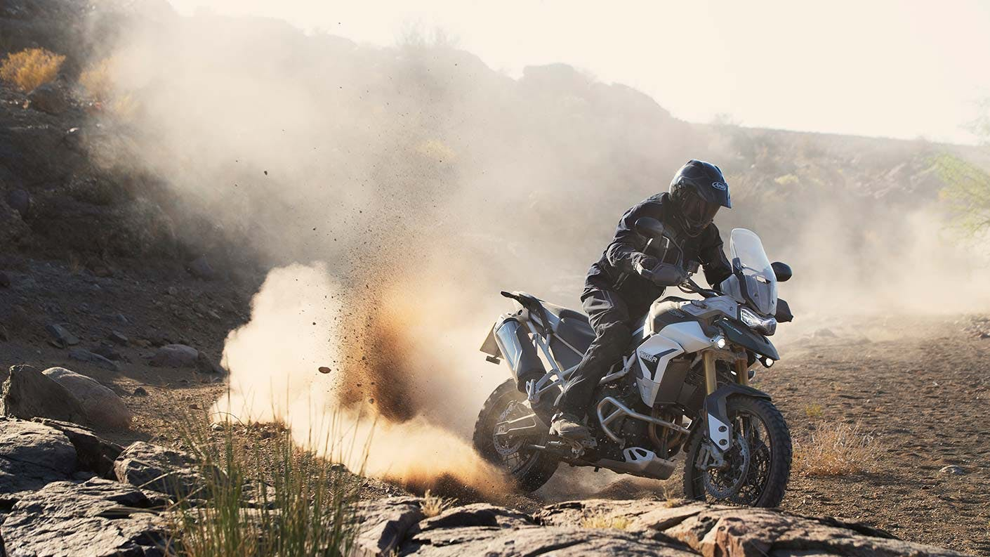 Tiger 900 Rally Pro on off-road track