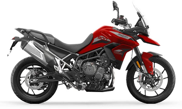 Tiger 900 GT low in Korosi Red colour