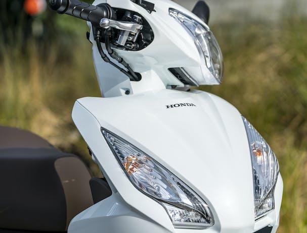 Honda NSC110 Dio in headlight