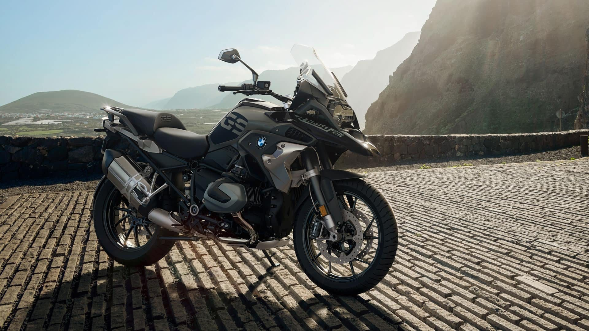 BMW R 1250 GS parked on the street