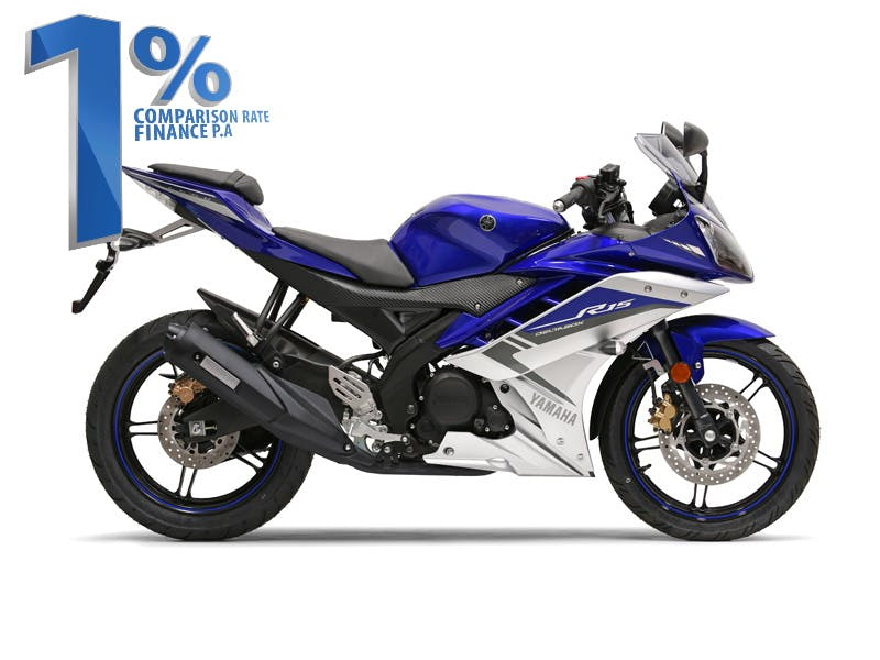 YAMAHA YZF-R15 in Yamaha Blue colour