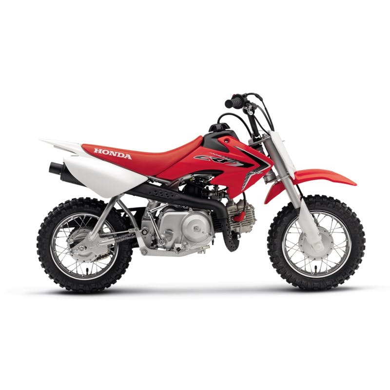Honda CRF50F in extreme red colour