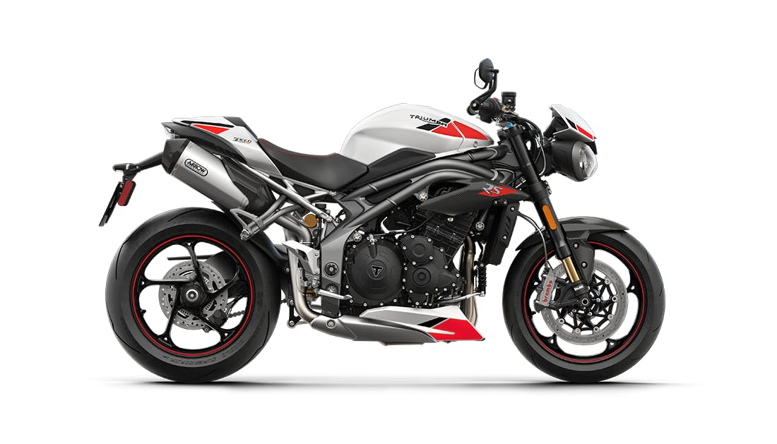 Triumph Speed Triple RS in Crystal White colour