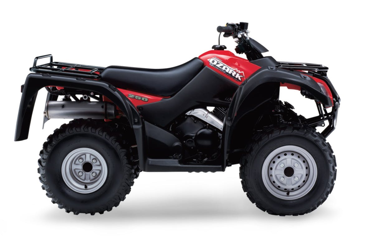 SUZUKI KINGQUAD 300 4x4 in flame red colour