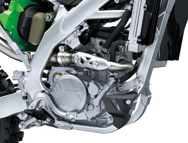 KawasakiI KX250's engine