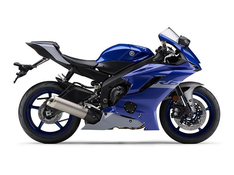 Yamaha YZF-R6 in Yamaha Blue colour