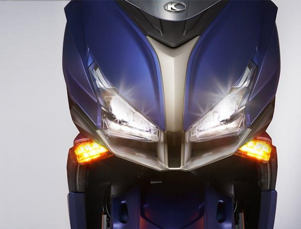 Kymco Xciting S 400i LED headlights