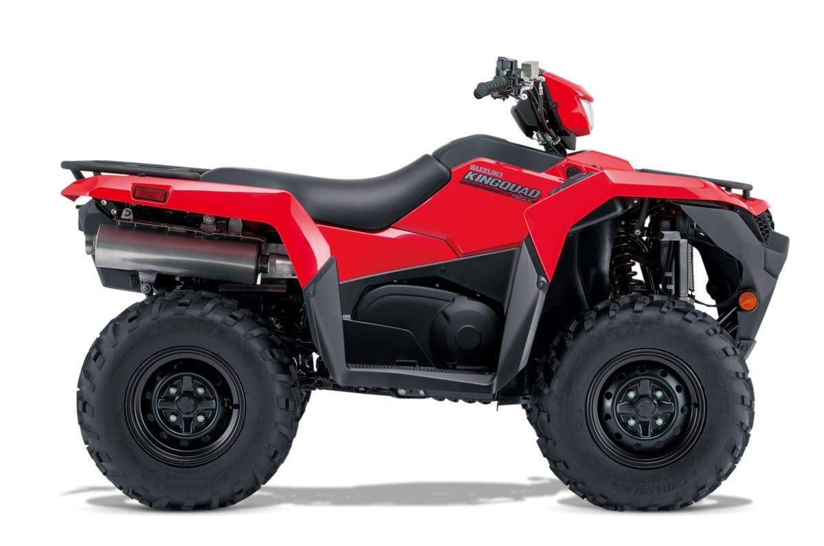 SUZUKI KINGQUAD 750AXI 4x4 PS in flame red colour