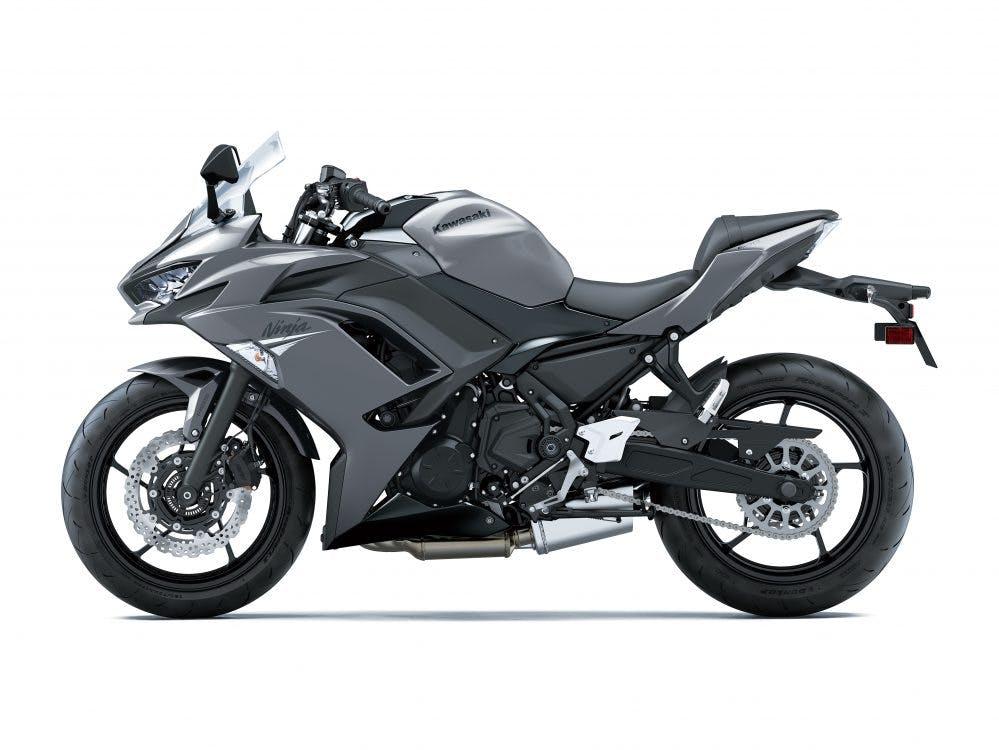 Kawasaki Ninja 650 in Metallic Graphite Gray with Metallic Spark Black colour