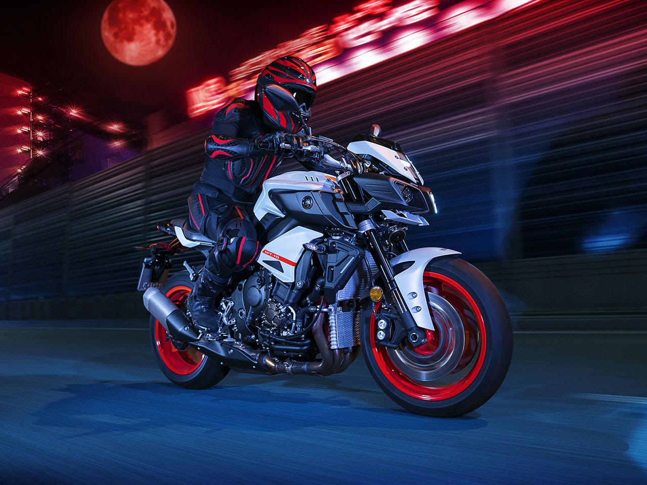 Yamaha MT-10 in Ice Fluo colour