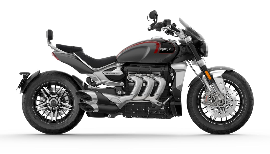 Triumph Rocket 3 GT in Silver Ice and Storm Grey
