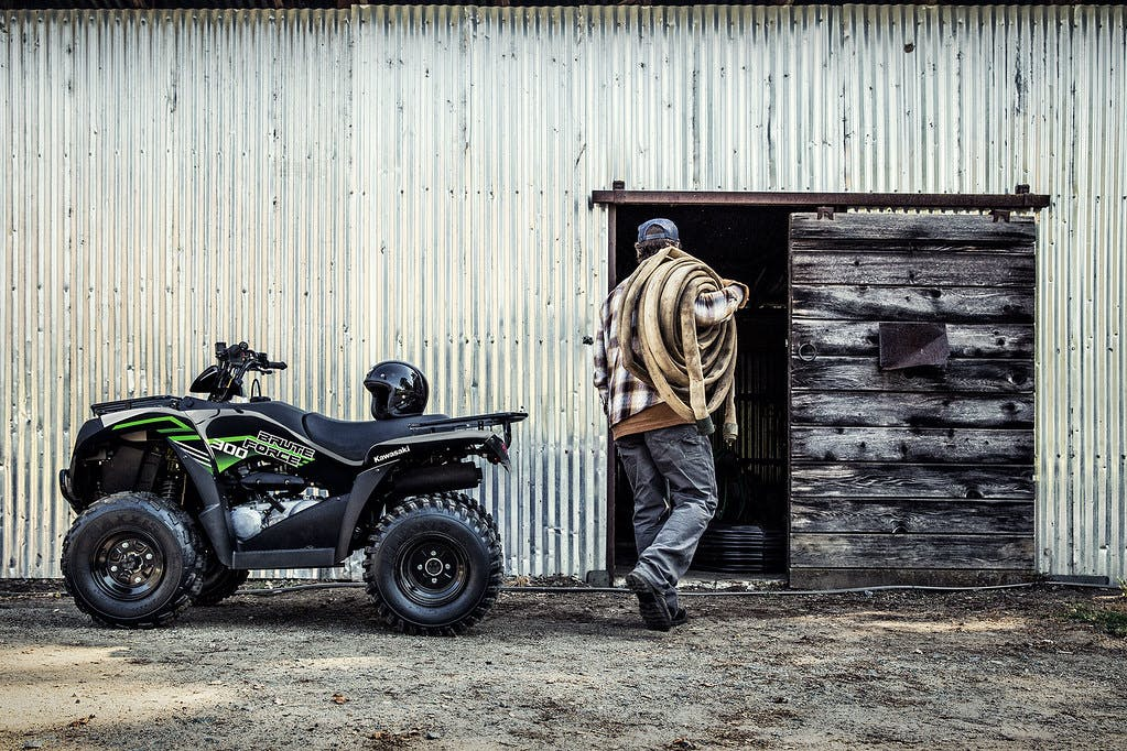 KAWASAKI Brute Force 300 in Super Black colour, parked