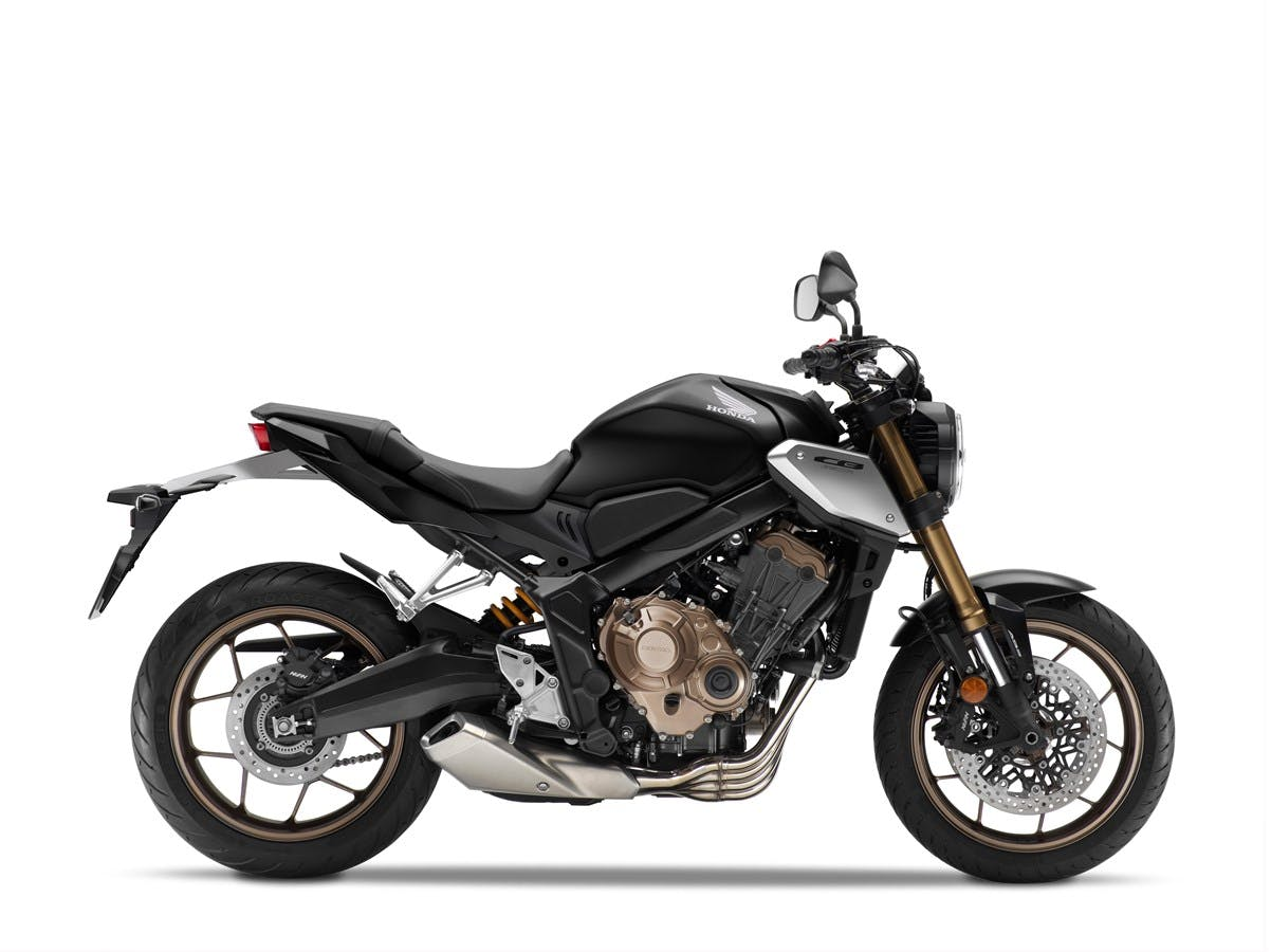Honda CB650R in matte gunpowder black metallic colour