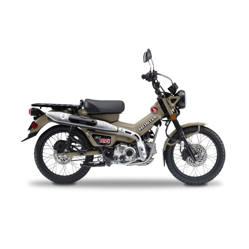 HONDA CT125 in matte fresco brown colour, parked