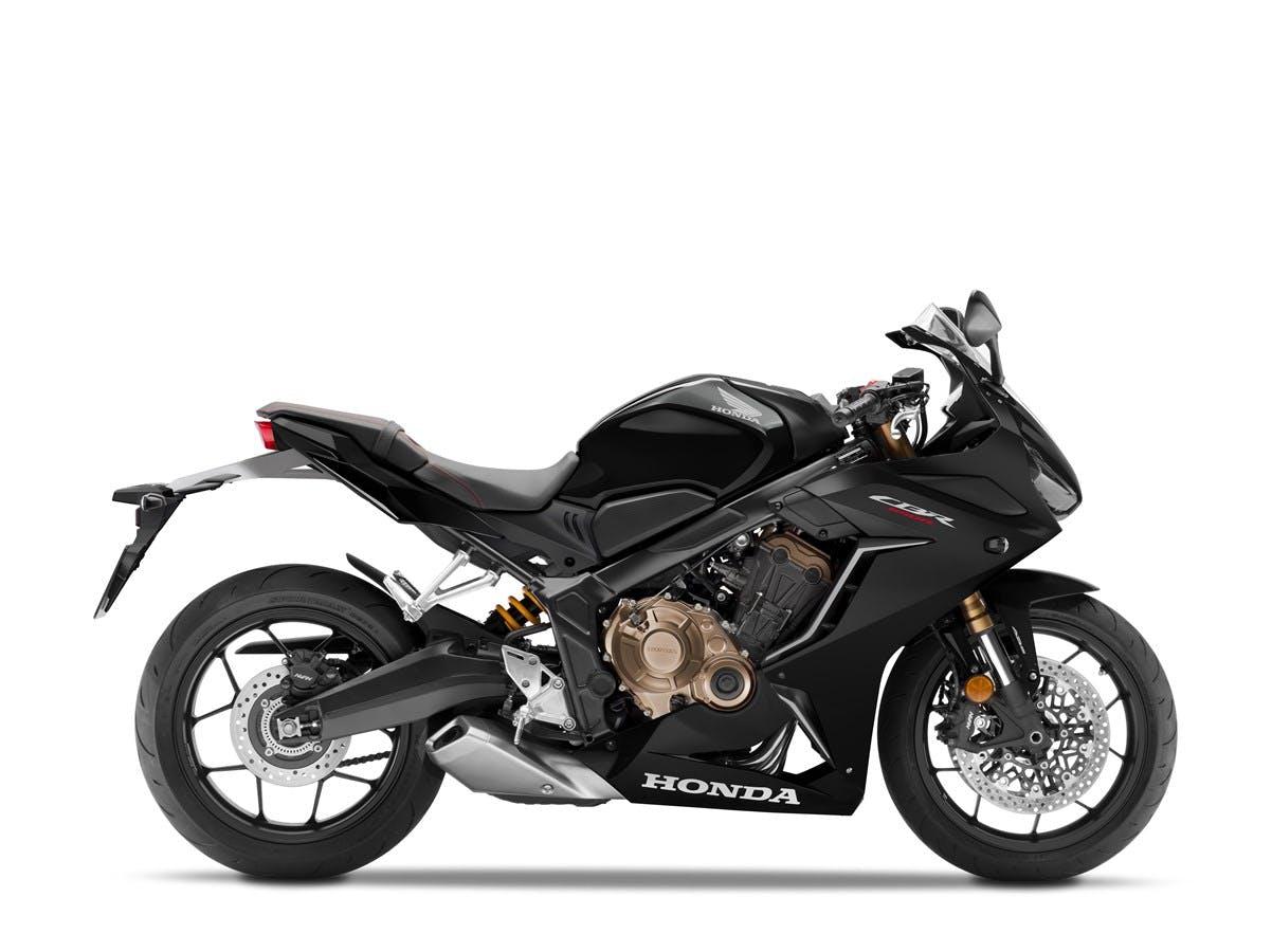 Honda CBR650R in matte gunpowder black metallic colour