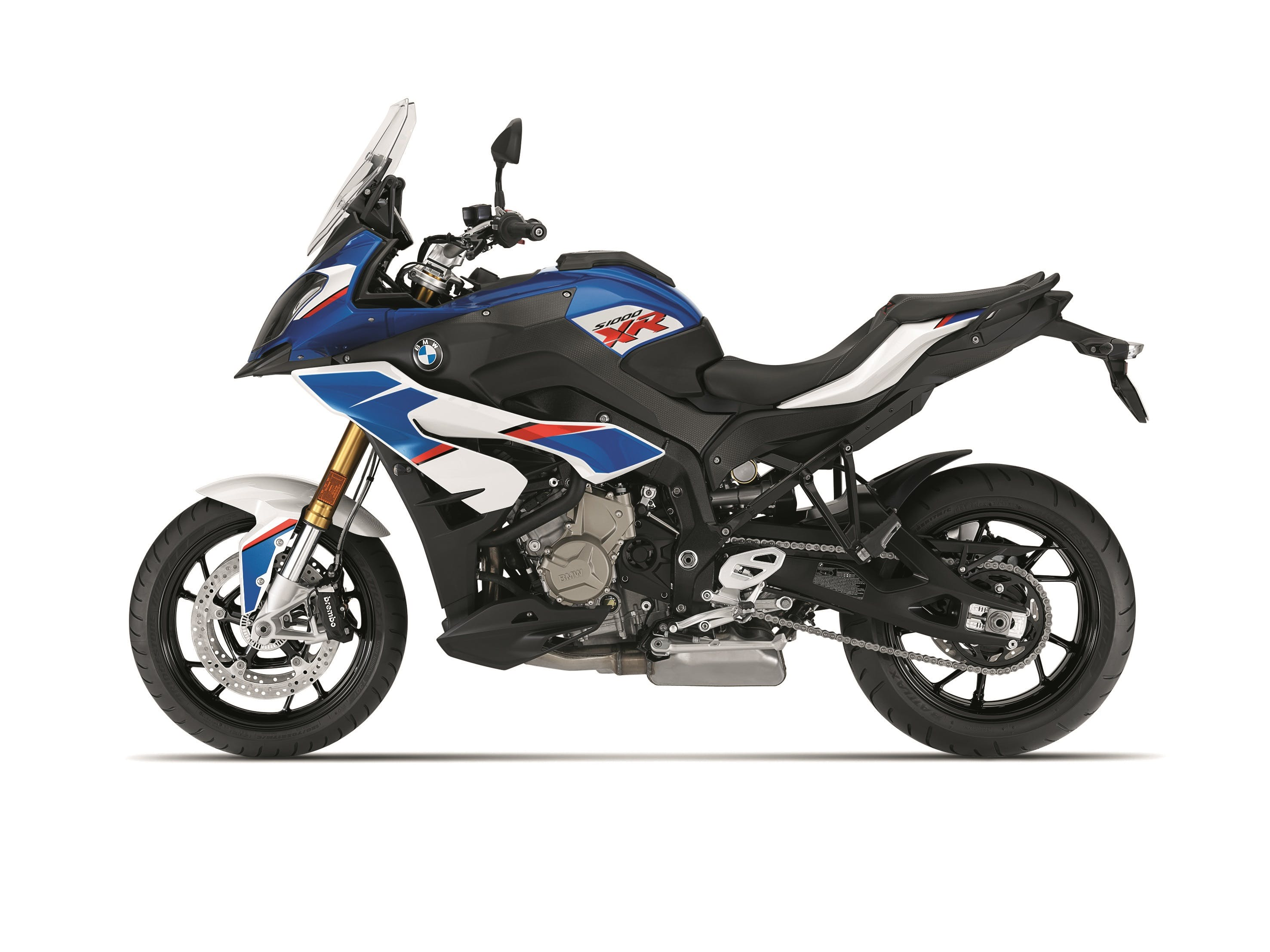 BMW S 1000 XR HP in motorsport light white, racing blue metallic and racing red colour