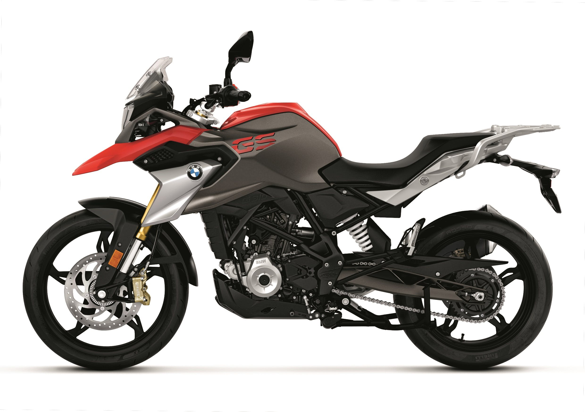 BMW G 310 GS in racing red colour