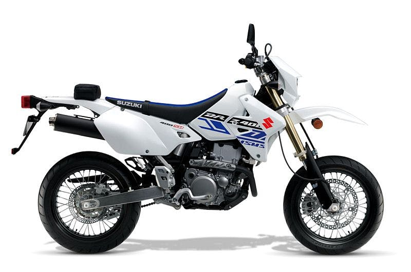 Suzuki DR-Z400SM in Solid White colour