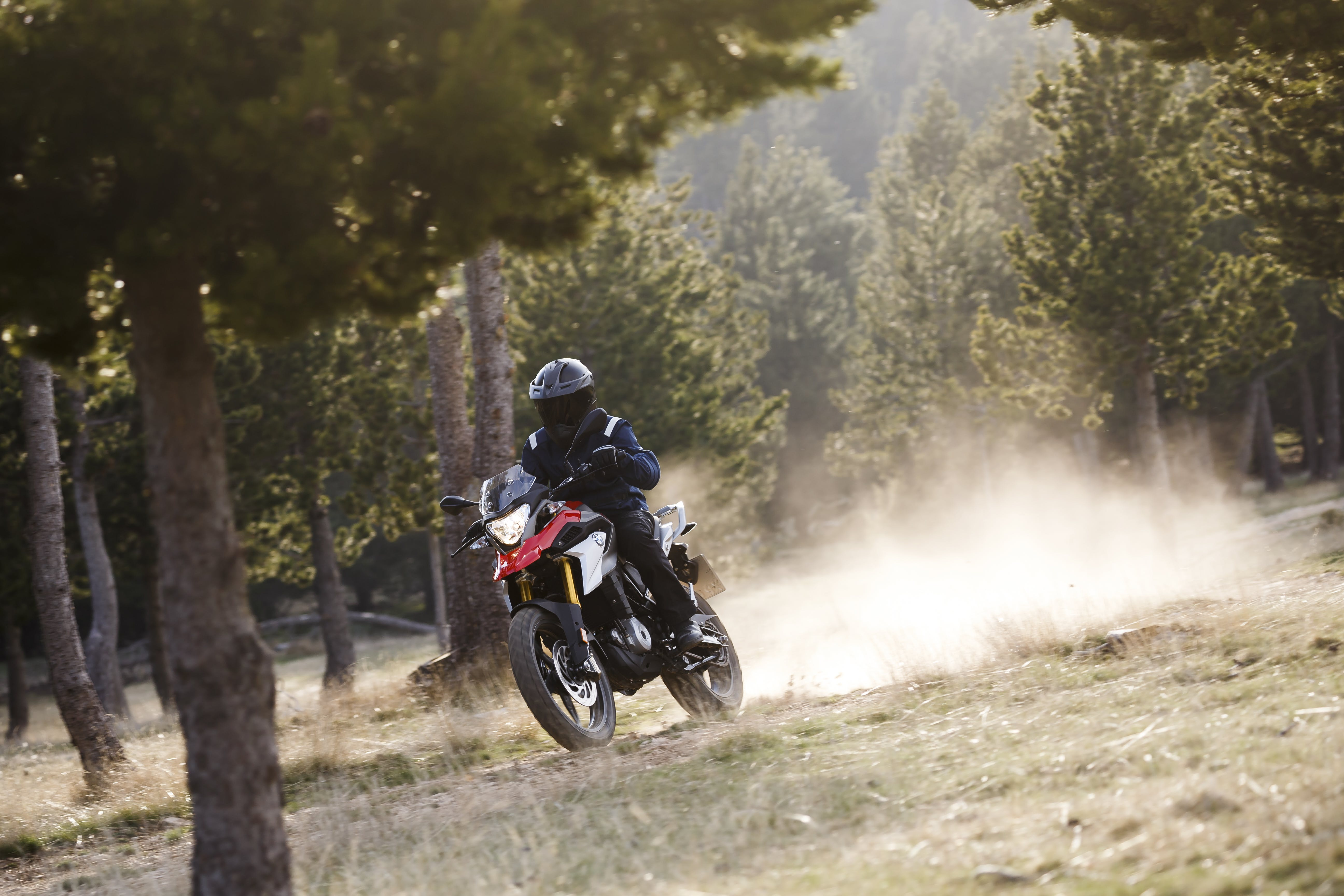 BMW G 310 GS being ridden on a off road