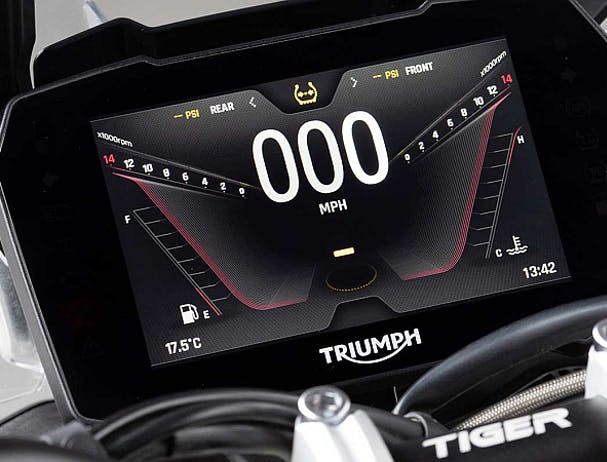 Triumph Tiger 900 screen displays