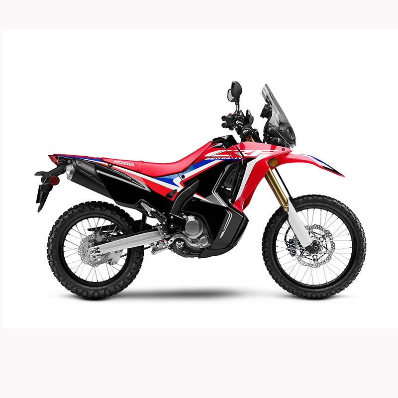 Honda CRF250 RALLY in grand prix red colour