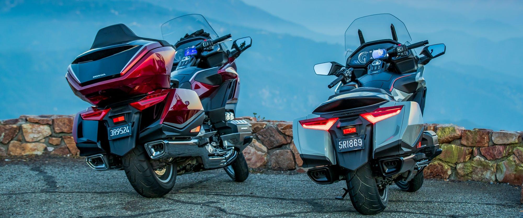 Honda Goldwing Tour Premium parked