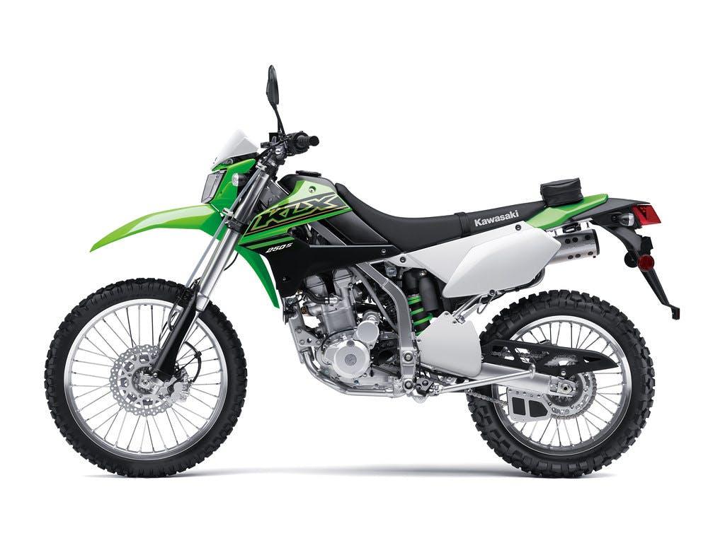 Kawasaki KLX250S in Lime Green colour