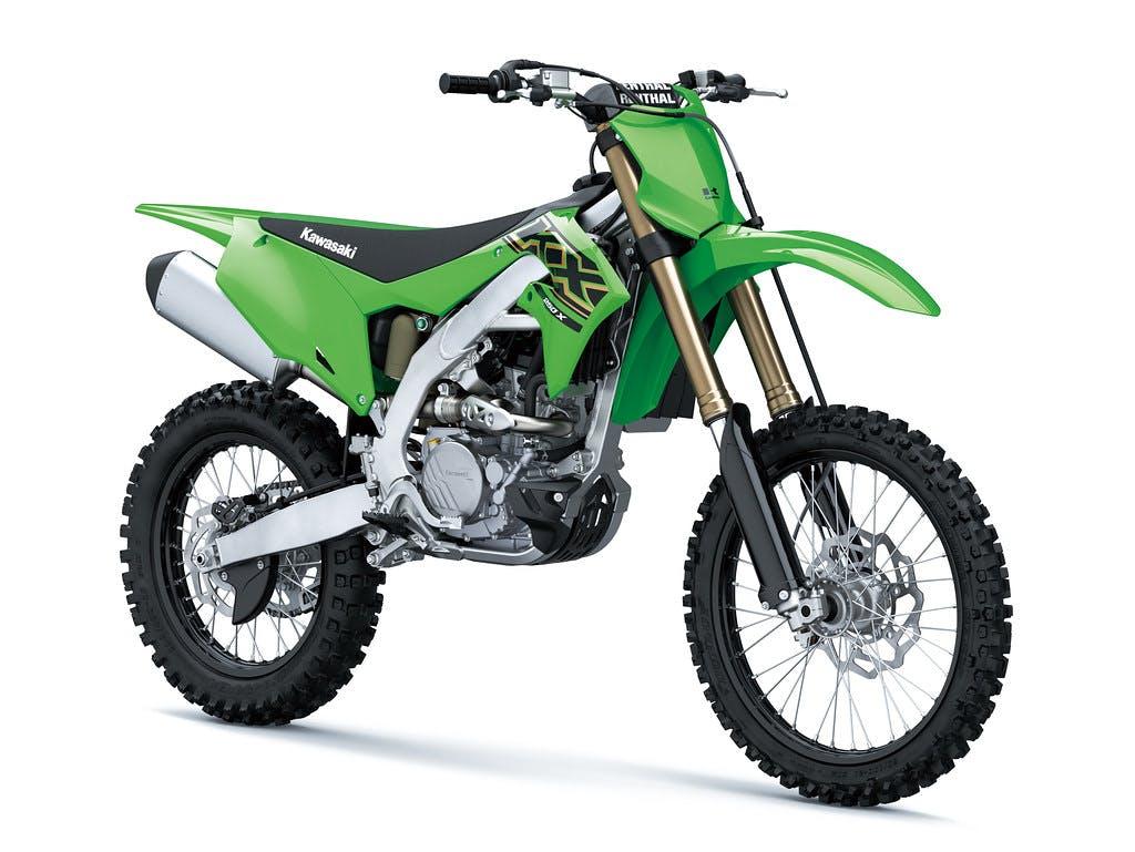 Kawasaki KX250X in Lime Green colour