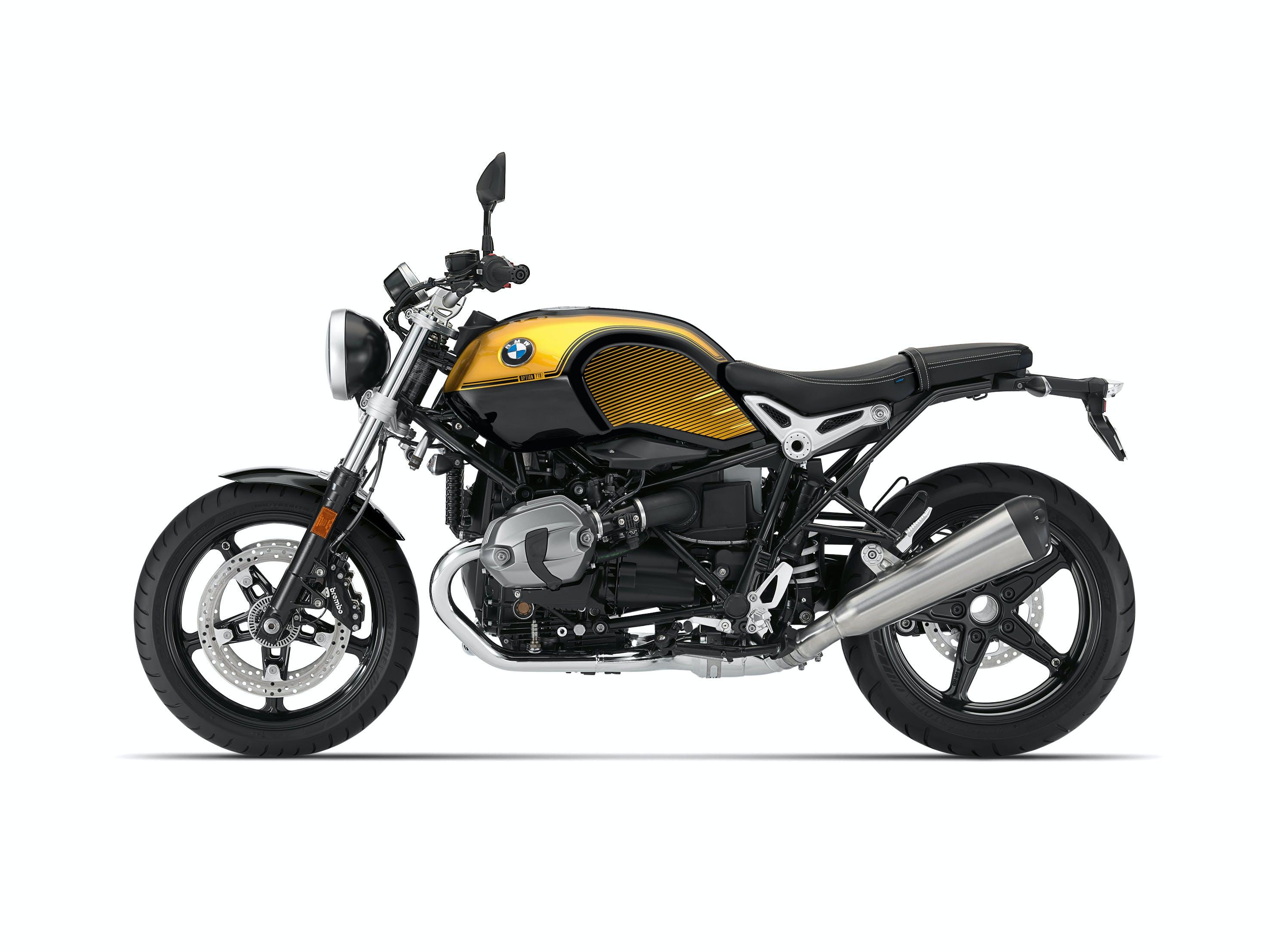BMW R NINET PURE SPEZIAL in opt 719 black storm metallic / aurum colour