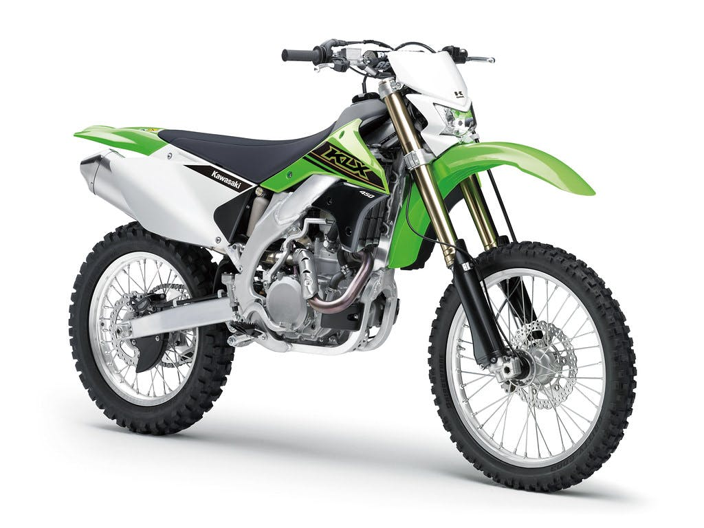 Kawasaki KLX450R in Lime Green colour