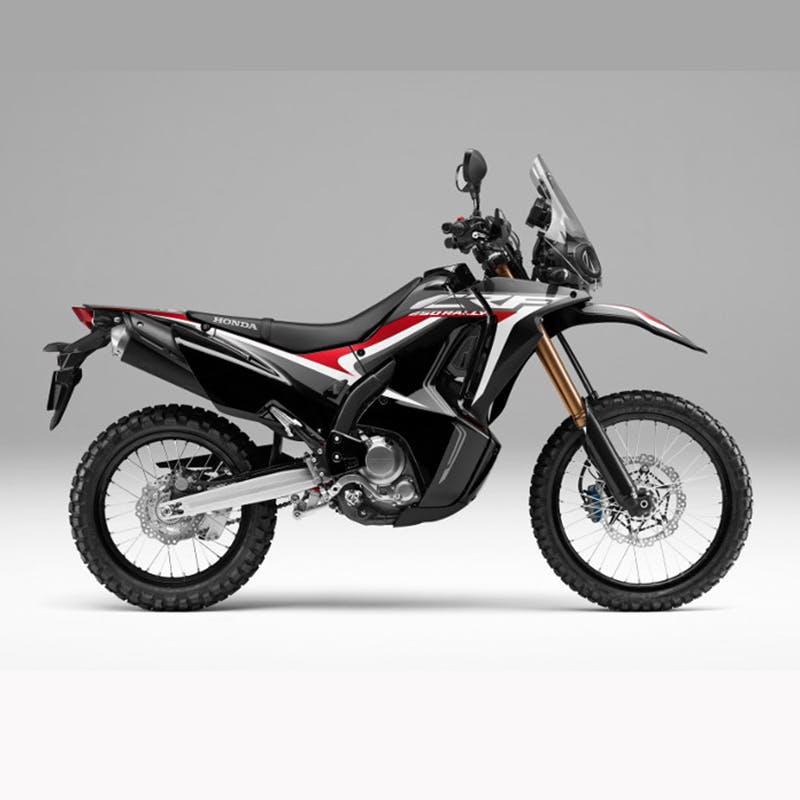 Honda CRF250 RALLY in matte gunpowder black metallic colour