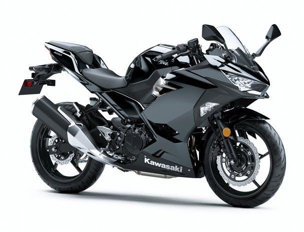 KAWASAKI NINJA 400 in metallic spark black colour