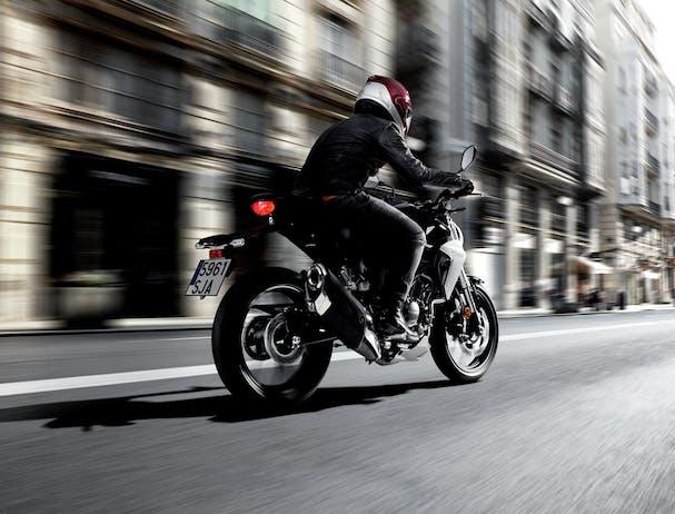 Honda CB300R on the road