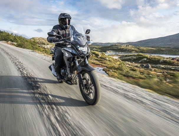Honda CB500X on off-road track